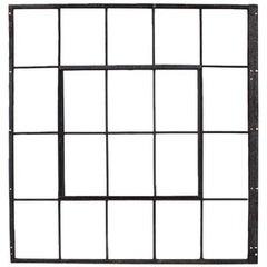 Large Antique American Industrial Metal Casement Window