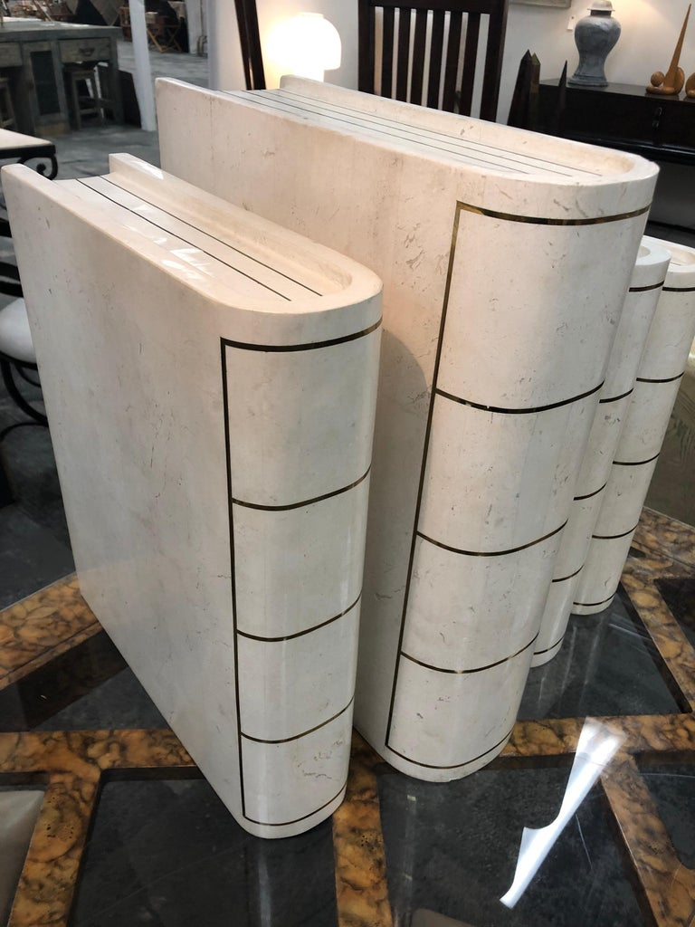 Oversized Modern Italian Tessellated Books by Maitland Smith In Good Condition For Sale In Chicago, IL