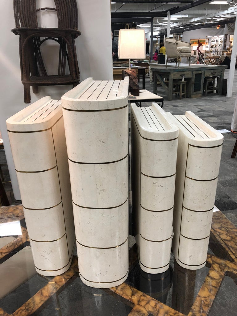 Late 20th Century Oversized Modern Italian Tessellated Books by Maitland Smith For Sale