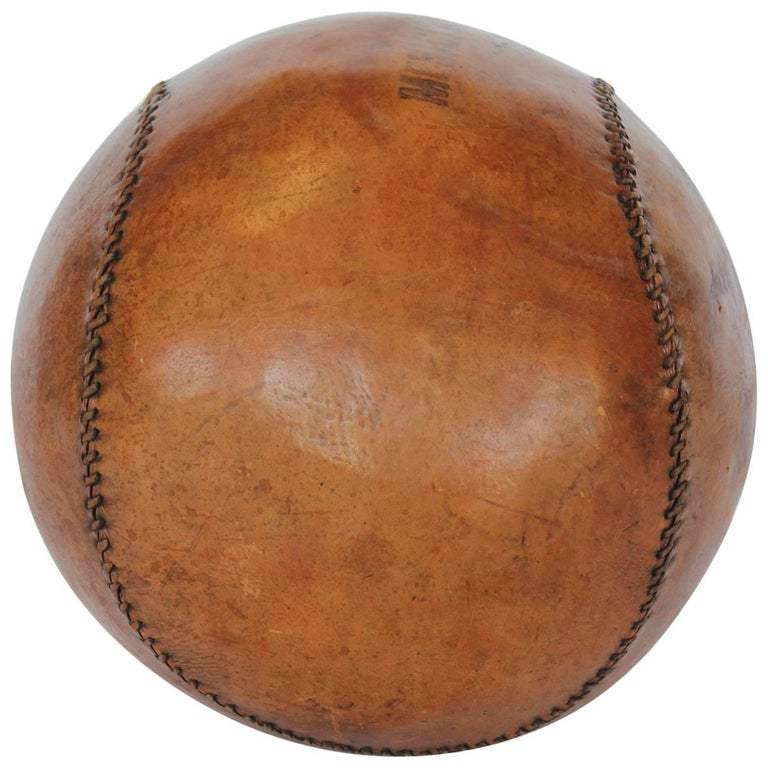 Oversized 1950s Hand-Stitched Leather Baseball