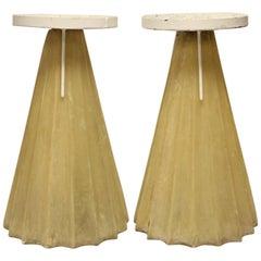 Midcentury Fiberglass Pedestals or Plant Stands