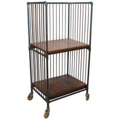 Antique Industrial Metal Bindery Cart