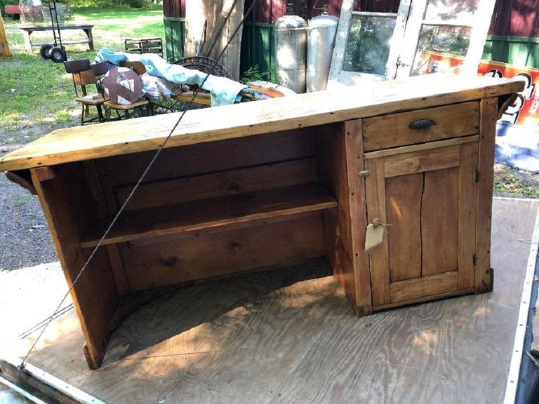Antique candy store wood counter. Original condition.