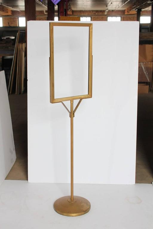 1930s Department Store Free Standing Metal Sign Stand For