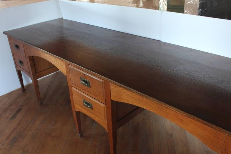 Unusual antique school double oak desk for sale at 1stdibs for Unusual writing desks