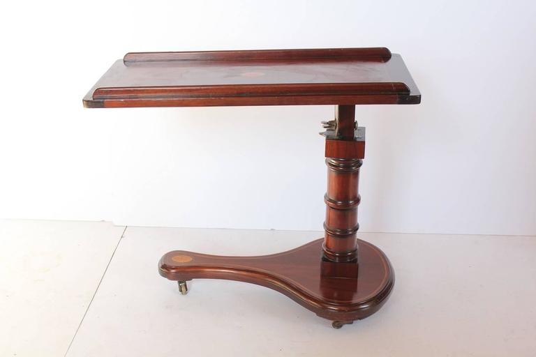 Unusual 20th century Italian tilt inlaid table/slanting art desk.