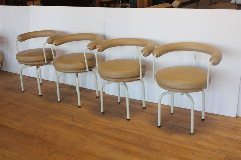 Stylish LC7 Chairs by Pierre Jeanneret, Perriand and Le Corbusier ...