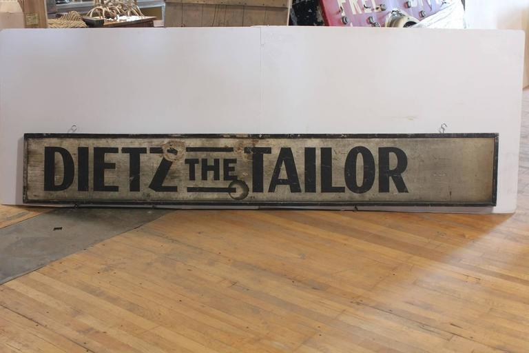 1900s Hand-Painted Wood Sign the Tailor  2