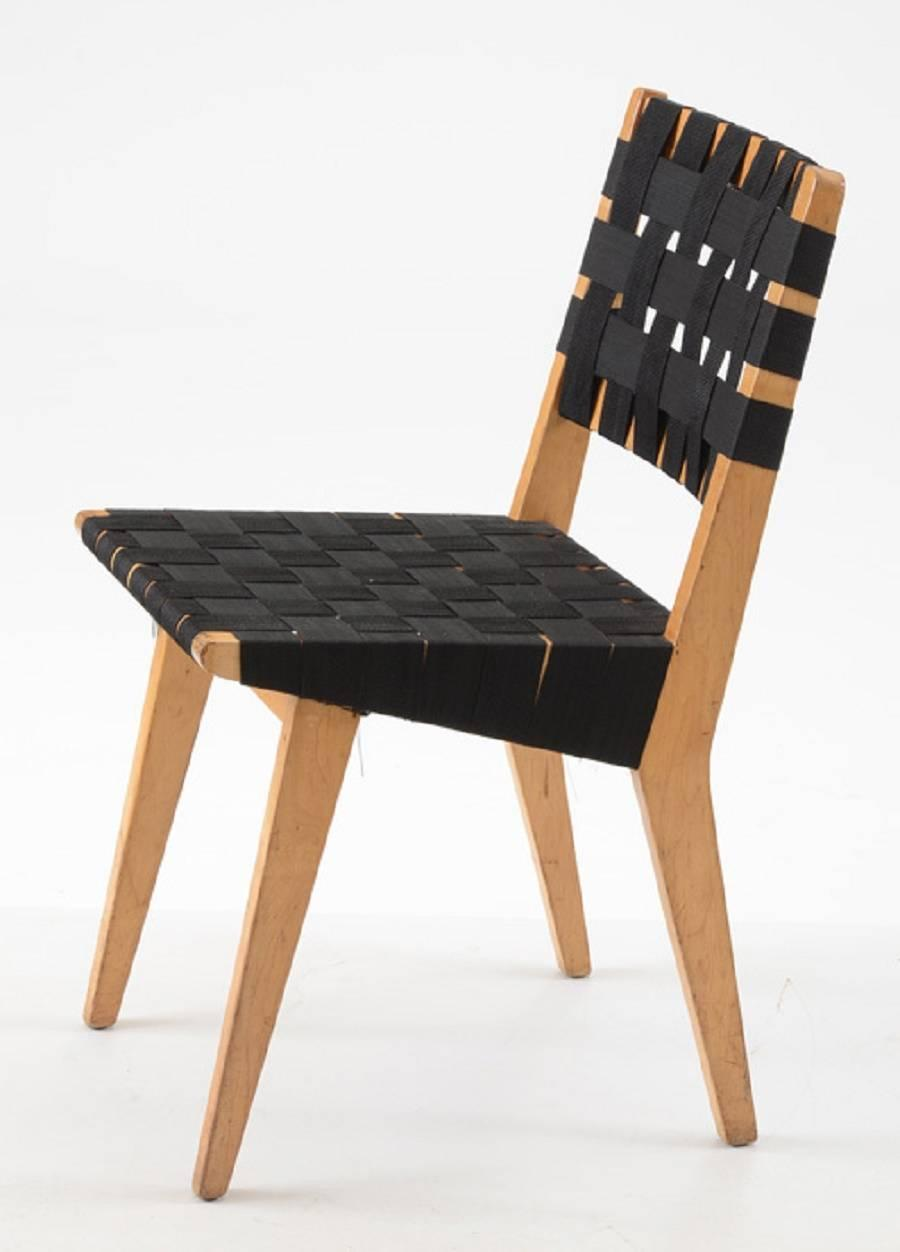 Original 1952s webbed wood side chair by jens risom for knoll for sale at 1stdibs - Knoll inc chairs ...