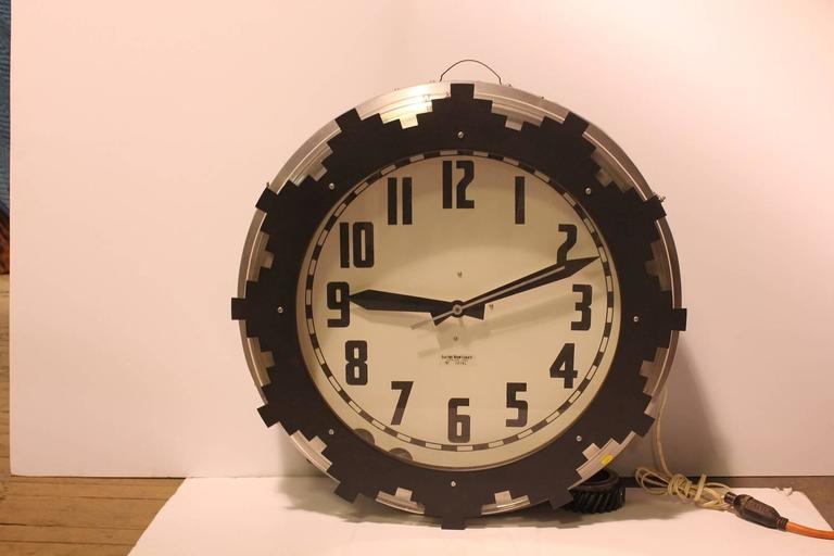 1930s Neon Aztec Clock.