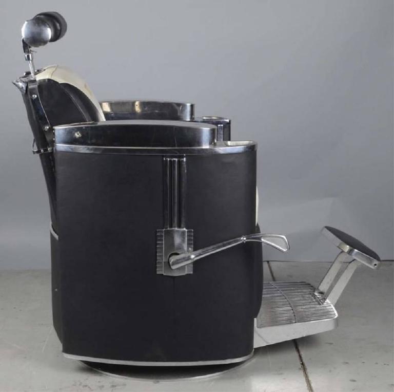 Art Deco 1950s Mad Men Era Koken President Barber Chair For Sale & 1950s Mad Men Era Koken President Barber Chair at 1stdibs