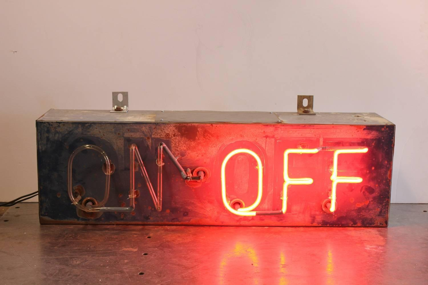 1930s Bar ON-OFF Neon Sign For Sale at 1stdibs