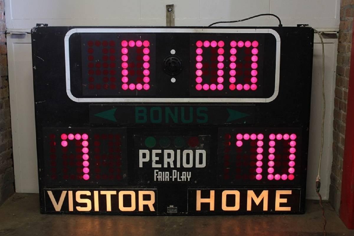 1950s American Basketball Scoreboard At 1stdibs