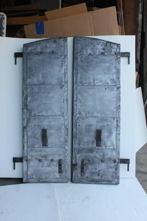 Industrial Antique Distillery Metal Shutters For Sale
