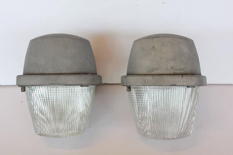 Large Industrial Holophane Wall Sconces For Sale at 1stdibs