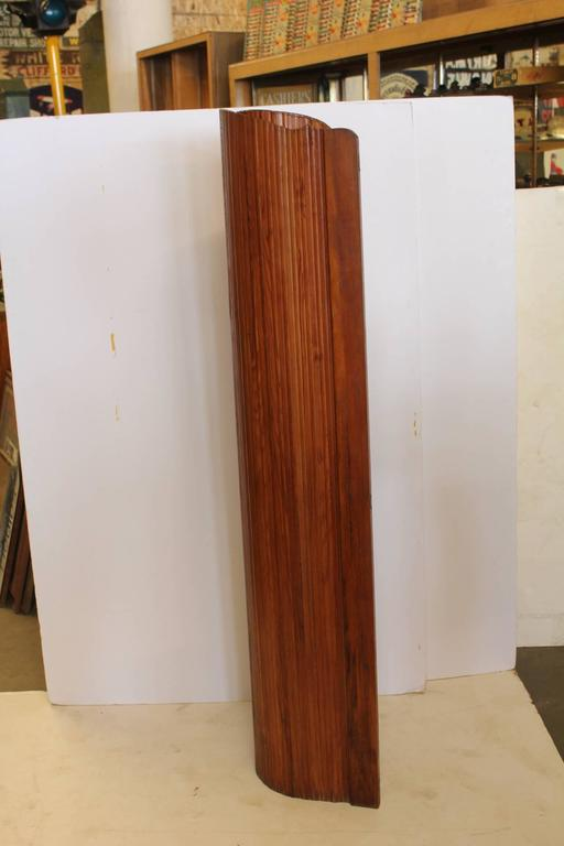 Art Deco French Wood Screen by S.N.S.A In Good Condition For Sale In Chicago, IL