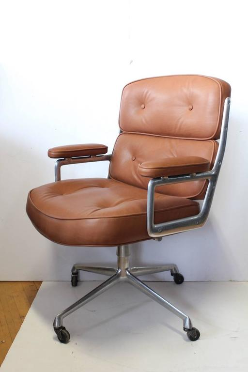 time life executive leather chair by eames for herman miller for sale