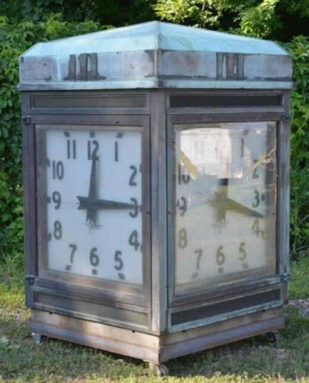 Spectacular Over Sized Antique Bank Four Sided Outside