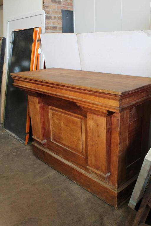 Antique Candy Store Wood Counter Or Front Bar At 1stdibs