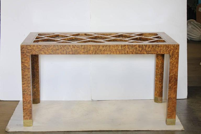 Stylish 1940s Chinoiserie Dining or Desk Table by Baker 2