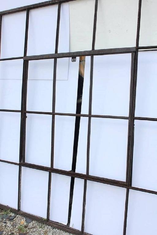 "Large antique American Industrial metal casement window. More windows available. Please note that this is only metal window part without glass. We have: 16 windows 75"" by 80"", 11 windows 74"" by 80"" , one window 43"" by"