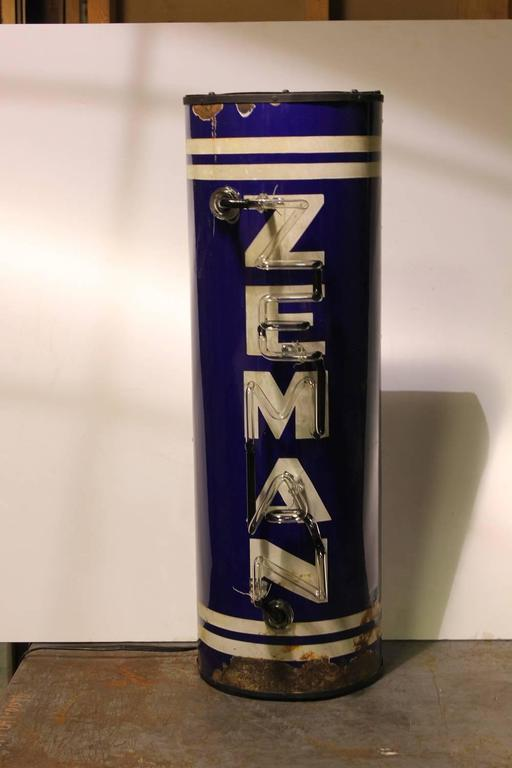 Rare 1930s Zeman Brewery neon sign. Zeman Brewery was located in Waukegan Il.
