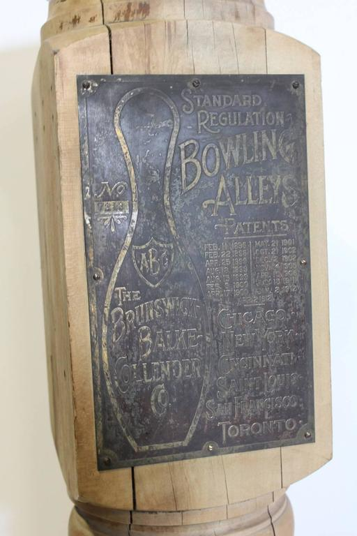 Antique Bowling Alley Ball Return Post by Brunswick Balke Collender Company 2