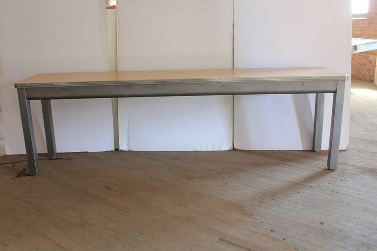 Mid-Century Modern 1950s American Console Metal Table For Sale