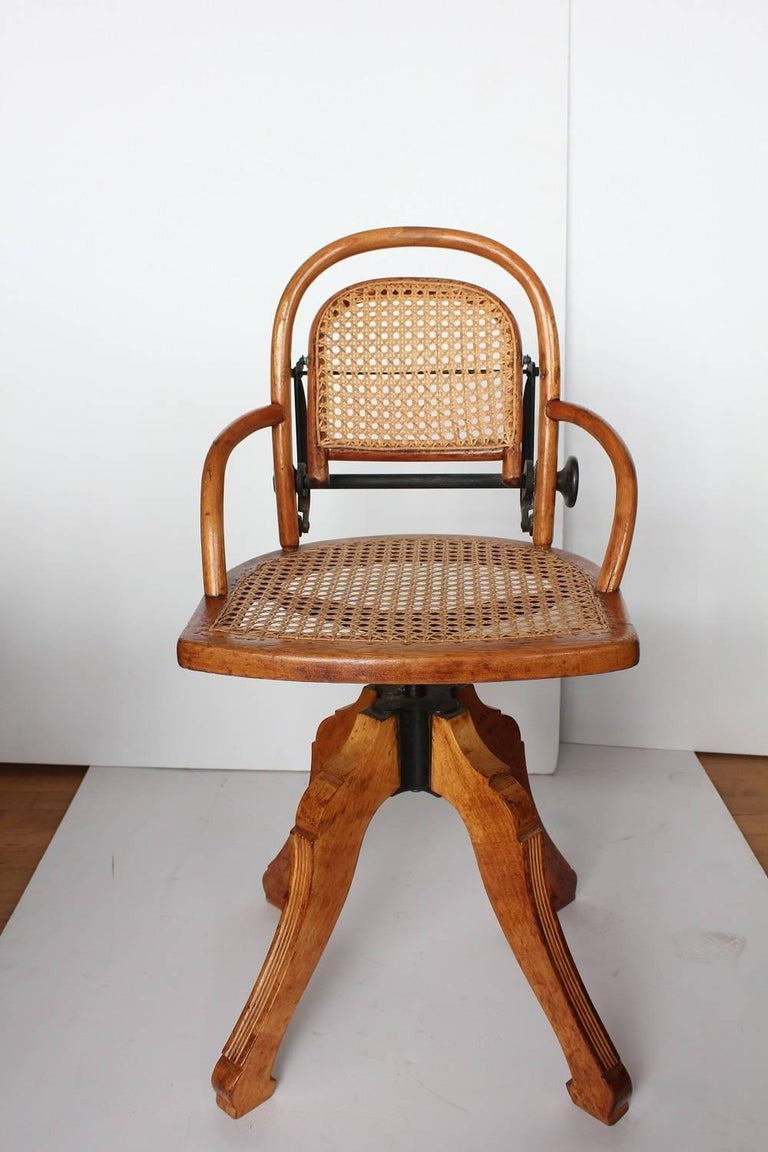 Rare Antique Swivel Desk Chair With Adjustable Height. - Rare Antique Swivel Desk Chair At 1stdibs