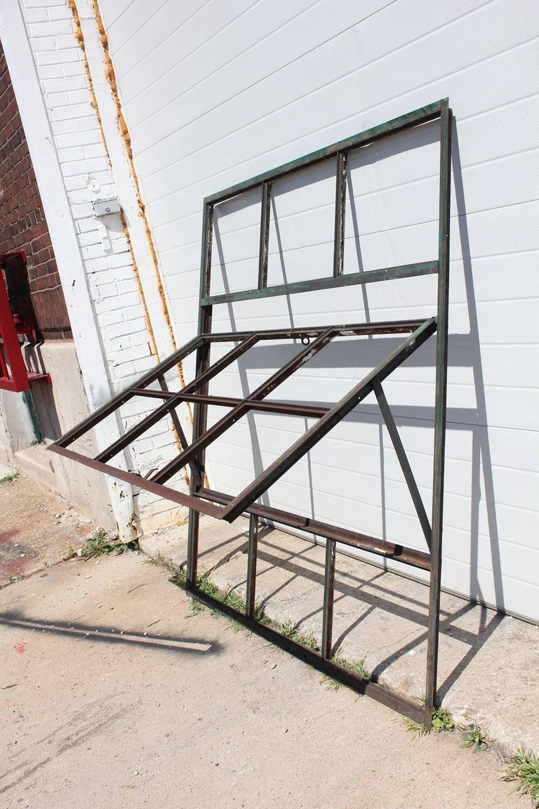 Antique factory casement metal window. We have 36 available. Please note that we sell only metal frame without glass. Listed price is for each window. Glass panel 15.5