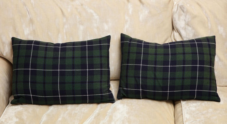 Contemporary Tartan Pillows Associated to Clan Urquhart from Scotland For Sale