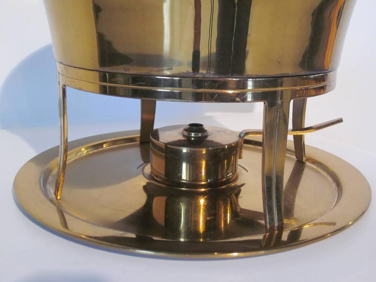 American Classical Tommi Parzinger Chaffing Dish for Dorlyn Silversmiths For Sale