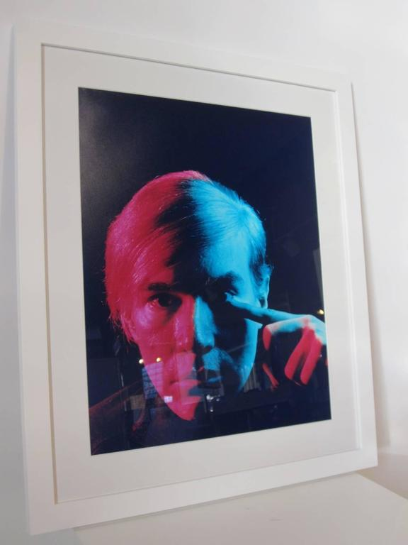 American Andy Warhol 1968 Portrait by Philippe Halsman For Sale