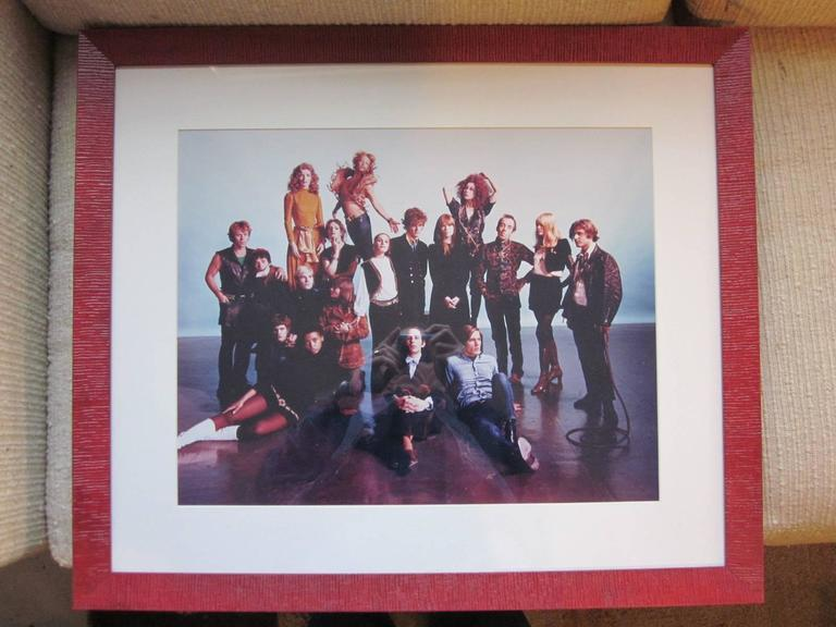 Andy Warhol Factory portrait taken in 1968 by master photographer and printer Philippe Halsman (1906- 1979) and in 1989 an edition of 100 portfolio of eight colorchromogenic prints were done which sold out. This print is a proof from the artist