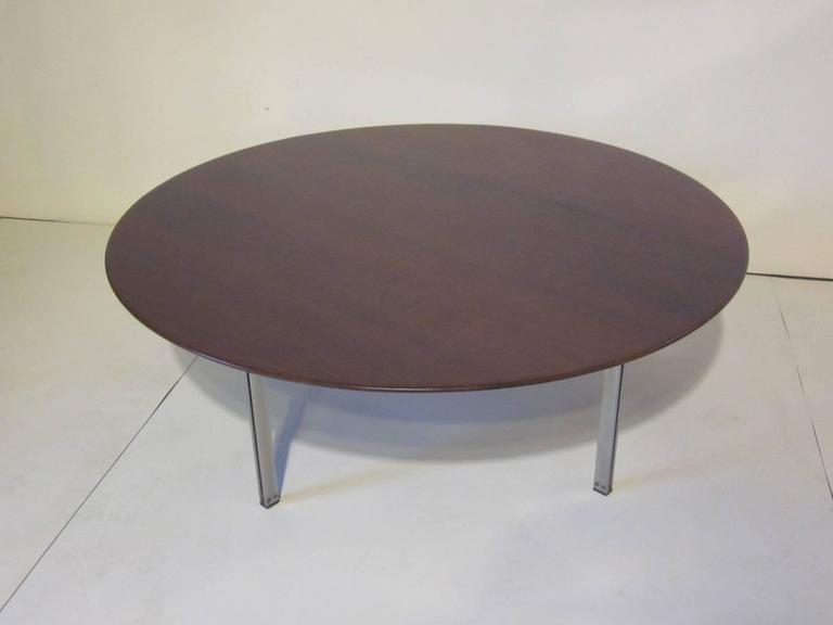 Florence knoll parallel bar rosewood coffee table for sale Florence knoll coffee table