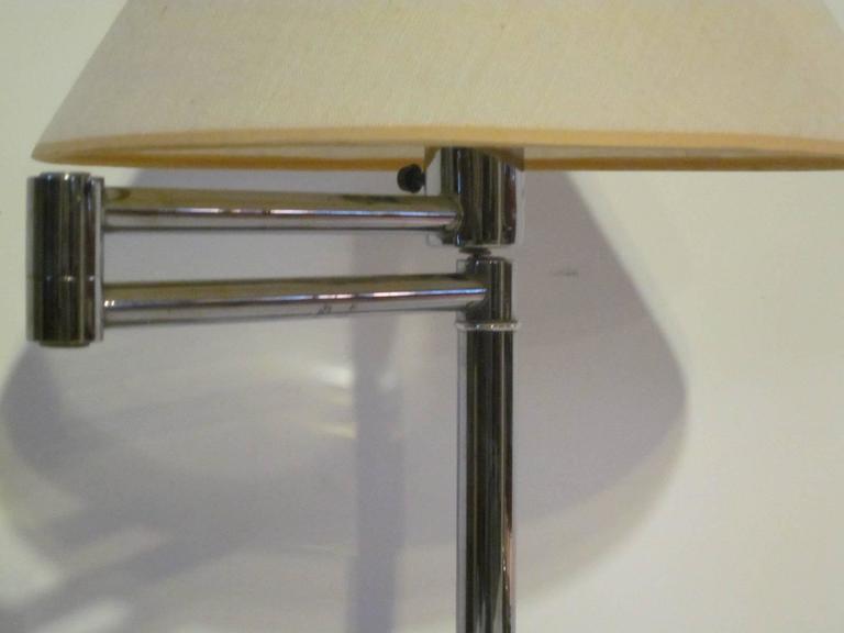 Walter Von Nessen Chrome Swing Arm Table Desk Lamp