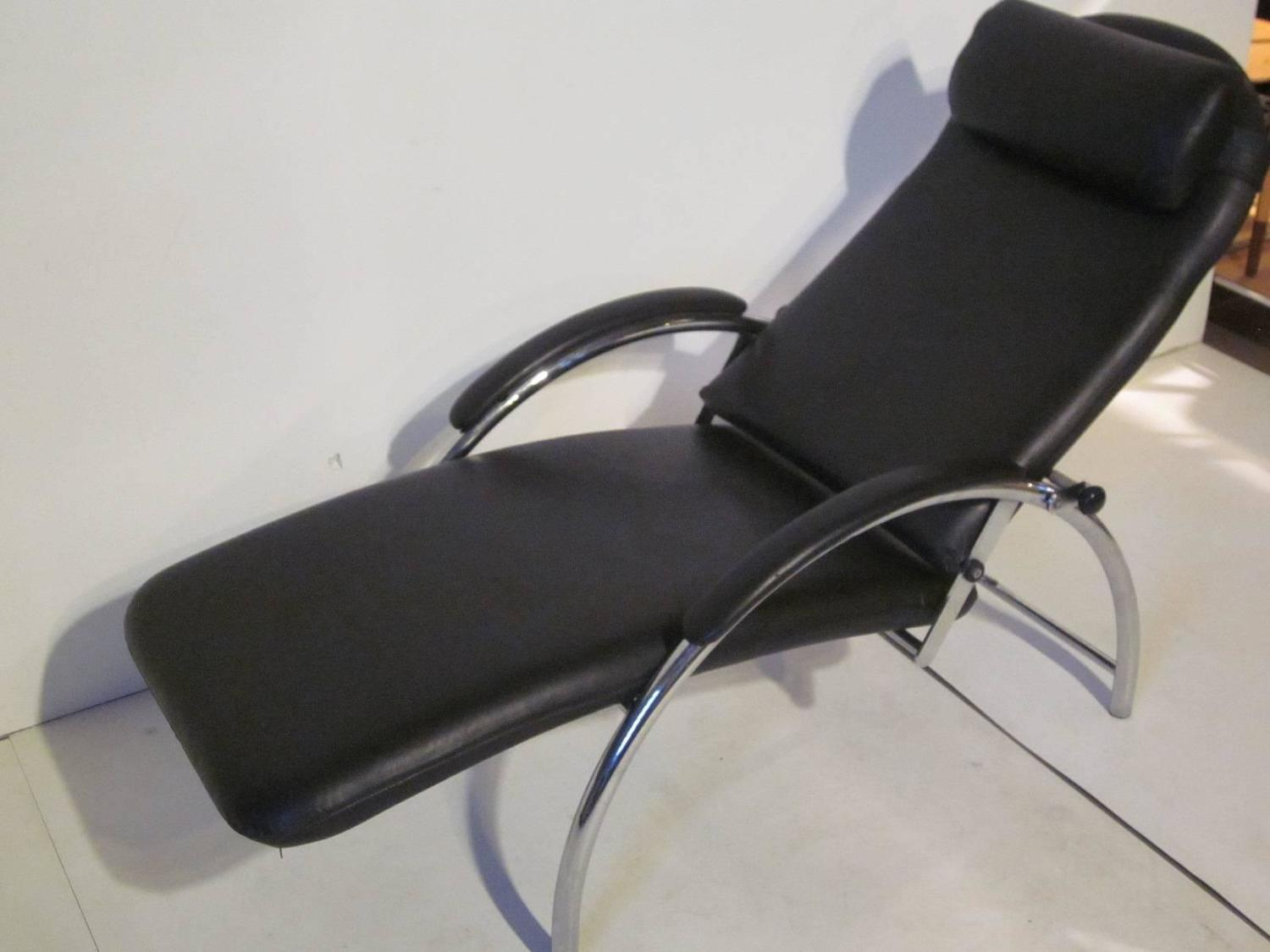 Three Way Convertible Leather Lounge Chair at 1stdibs