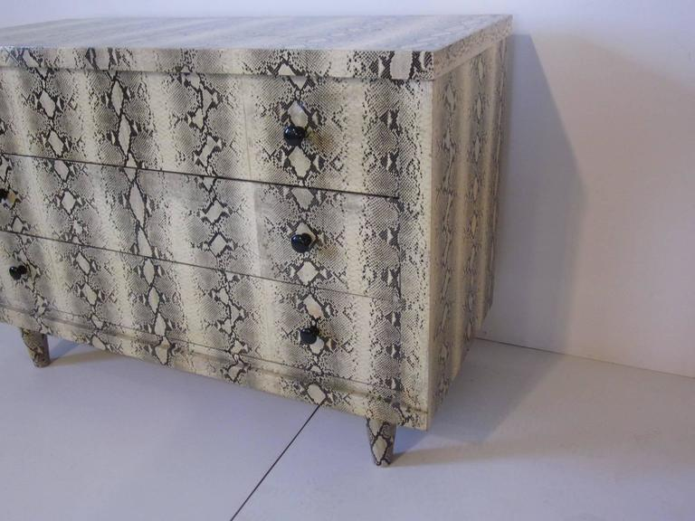 Faux Snakeskin Dresser Chest At 1stdibs