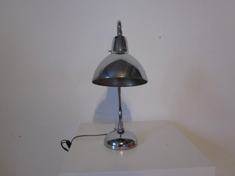 Industrial Styled Chrome Desk Lamp 2