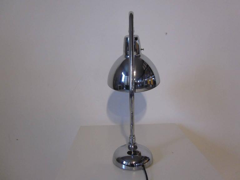Industrial Styled Chrome Desk Lamp 3