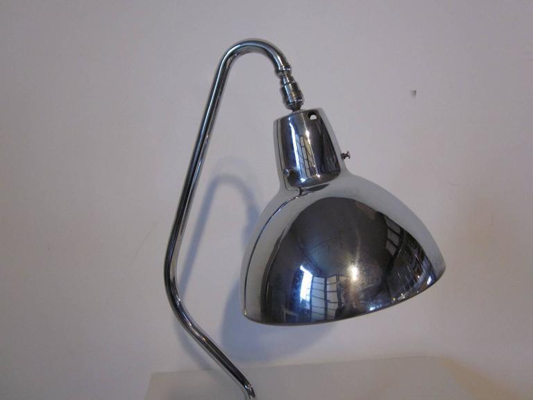 Industrial Styled Chrome Desk Lamp 4