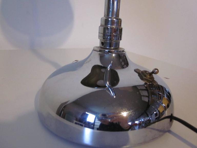 Industrial Styled Chrome Desk Lamp 6