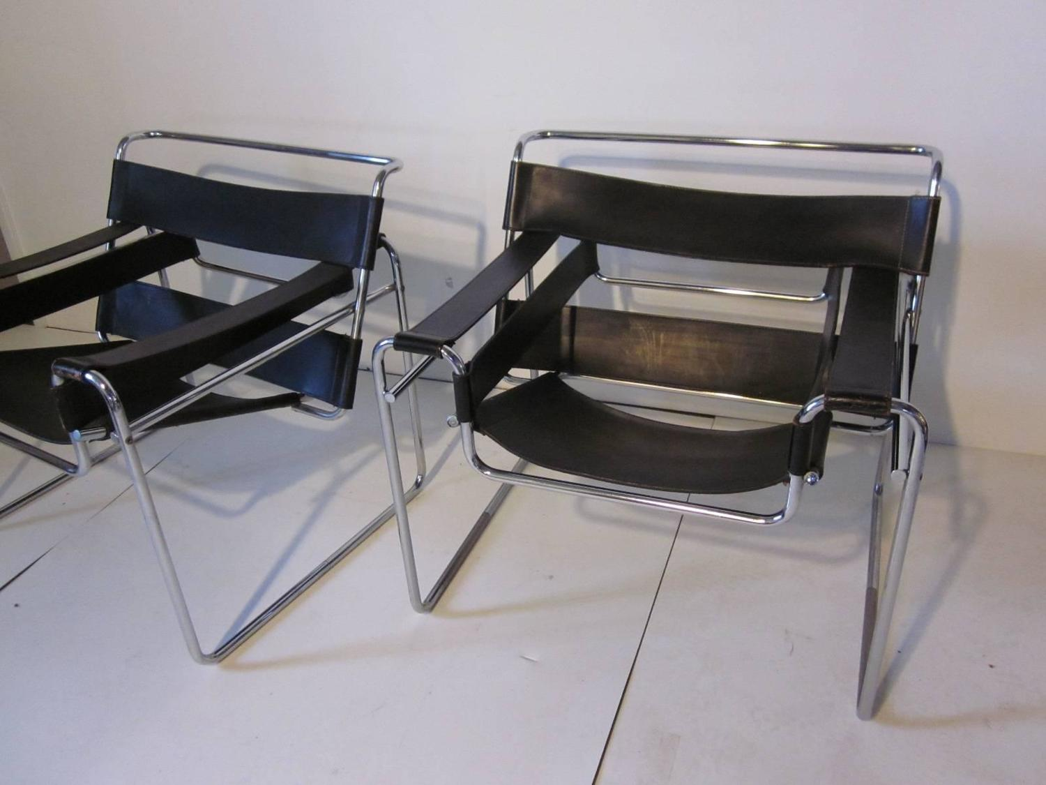 Marcel Breuer Styled Wassily Chairs At 1stdibs