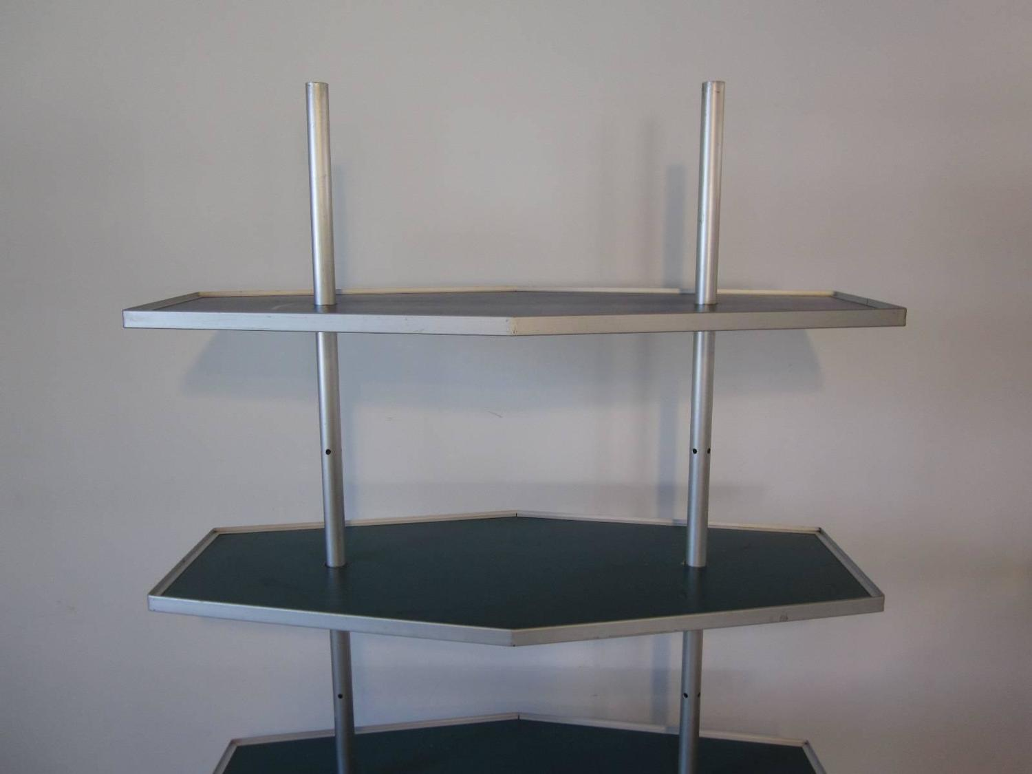 Mid-Century Modern Industrial Shelving Unit For Sale at 1stdibs