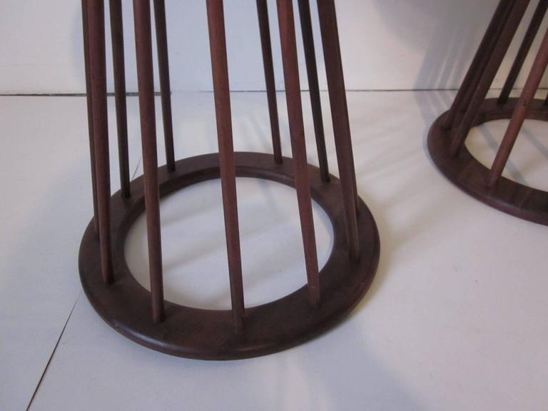 Arthur Umanoff Mid-Century Walnut Based End Tables Or