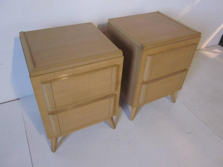R way mid century nightstands in the style of eliel for R way bedroom furniture