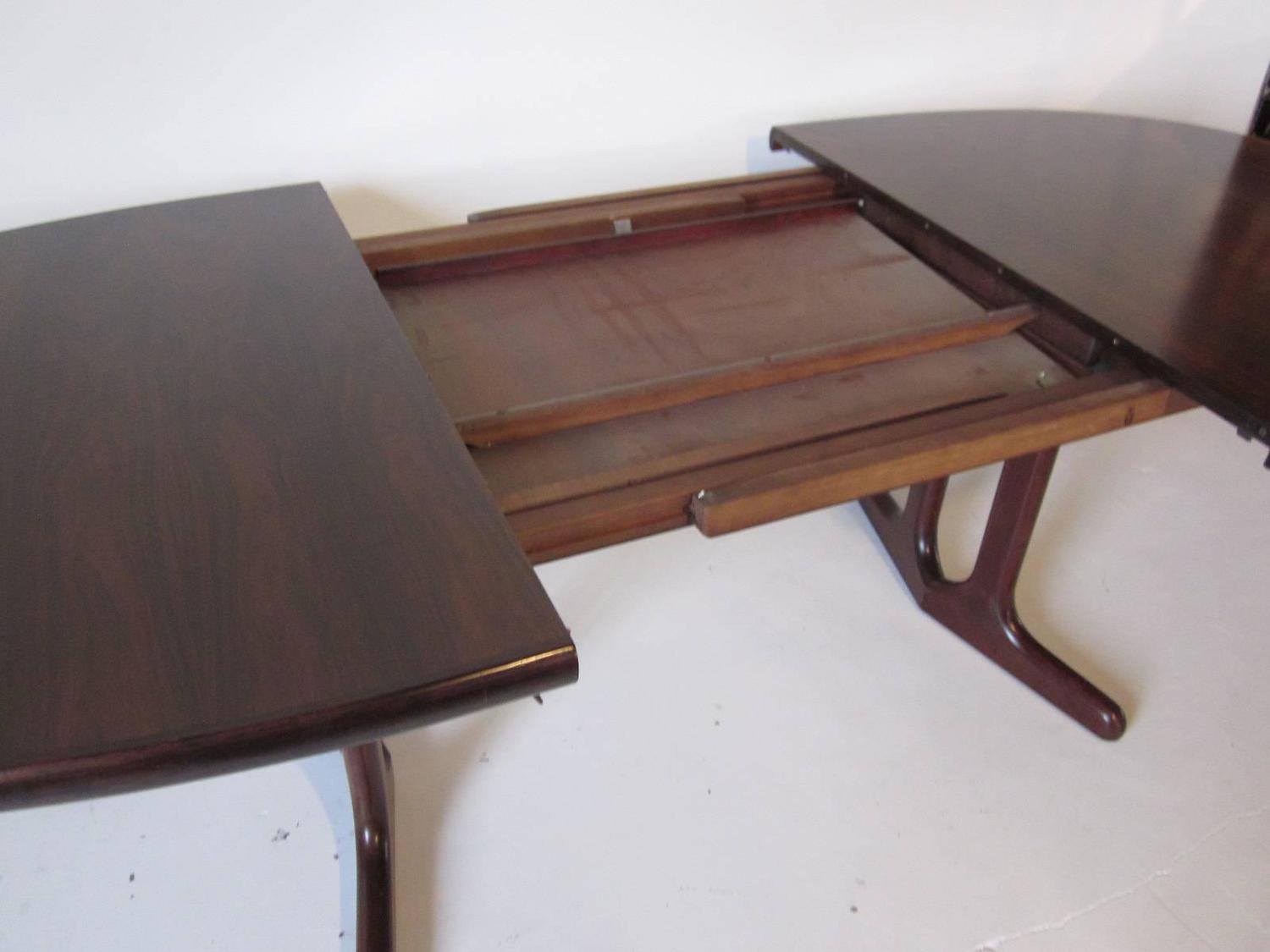 Danish Rosewood Pop Up Leaf Dining Table For Sale At 1stdibs
