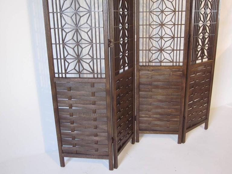 Teak Wood Room Divider In Excellent Condition For Sale In Cincinnati, OH