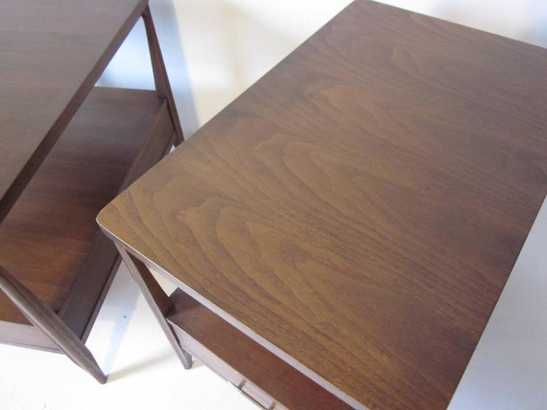 Mid-Century Modern Mahogany Nightstands or End Tables For Sale