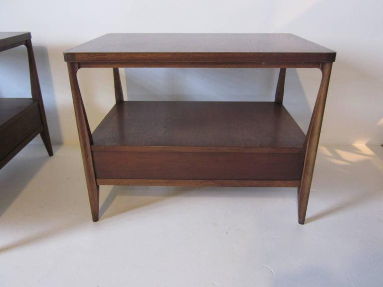 20th Century Mahogany Nightstands or End Tables For Sale